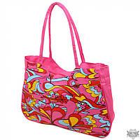 Пляжная текстильная  женская сумка Podium /1323 pink