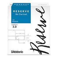 Трости для кларнета Bb D`ADDARIO DCR1030 Reserve Bb Clarinet #3.0 - 10 Box
