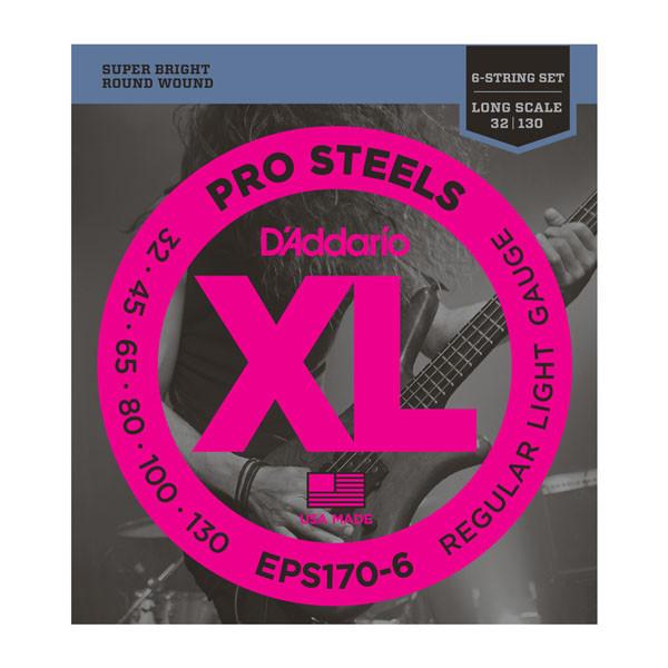 Струны D`ADDARIO EPS170-6 PRO STEELS LIGHT 6 STRING 30-130