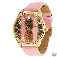 Наручные часы ZIZ «Ананас» золотой корпус 1412813