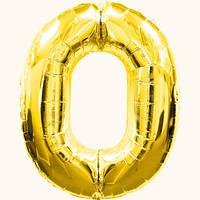 Шар цифра - 0. Цвет: золото. Размер: 60см. Материал: фольга.