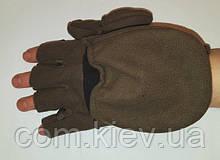 Перчатки-варежки флисовые  непродуваемые на мембране