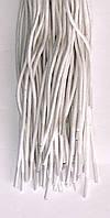 Шнурки белые круглые пропитанные 3,5мм 100см синтетика