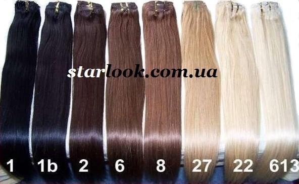 Натуральные европейские волосы на трессе длиной 70 см