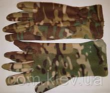 Перчатки флисовые мужские камуфлированные multicam