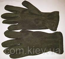 Перчатки флисовые мужские темно-зеленые