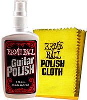 Набор (ткань и полироль) для полировки гитар ERNIE BALL P04222