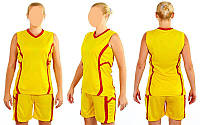 Форма баскетбольная женская Atlanta 1101 (желтый)