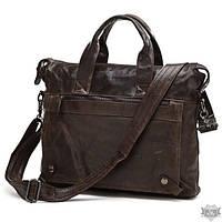 """Удобная кожаная сумка для ноутбука 15,6"""" 7120C"""