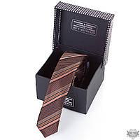 Мужской стильный узкий шелковый галстук ETERNO eg654