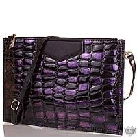Женский модный стильный кожаный клатч ETERNO фиолетовый