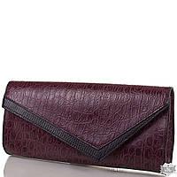 Женский модный кожаный клатч ETERNO фиолетовый