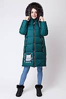 Зимняя куртка для девочки изумруд