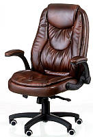 Кресло офисное для руководителя Oskar brown экокожа