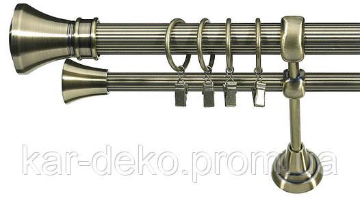 Карниз металлический кованный двухрядный