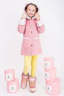 Дубленка для девочки розовая