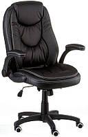 Кресло офисное для руководителя Oskar black экокожа, Механизм качания Anyfix, подлокотники регулируются