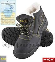 Ботинки рабочие утепленные с протипрокольной подошвой и метподноском REIS Польша (спецобвь) BRYES-TO-S3