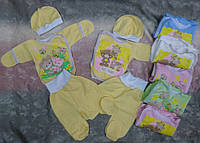 Комплект одежды для новорожденных из трикотажа с начесом, наборы для новорожденных оптом от производителя