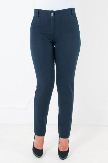 Офисные брюки синие с зауженными штанинами Миранда