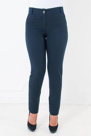 Офисные брюки синие с зауженными штанинами Миранда, фото 2
