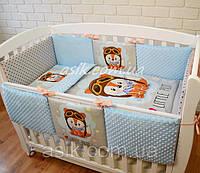 """Детский постельный комплект  Asik  """"Маленький пилот"""" с плюшем Minky, голубой (6-262), фото 1"""