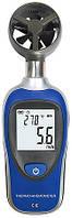 Цифровой анемометр Flus ET-905C (от 0,2 до 30 м/с) с измерением температуры воздуха Цена с НДС