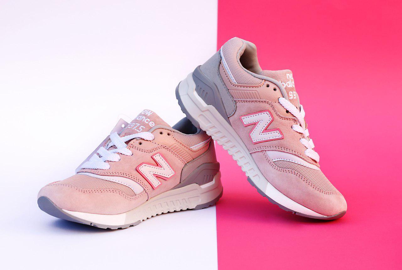 Женские кроссовки New Balance 997.5 Розовые, Материал - замша, текстиль, кожа