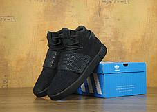 Мужские кроссовки Adidas Tubular Invader Strap All Black топ реплика, фото 3