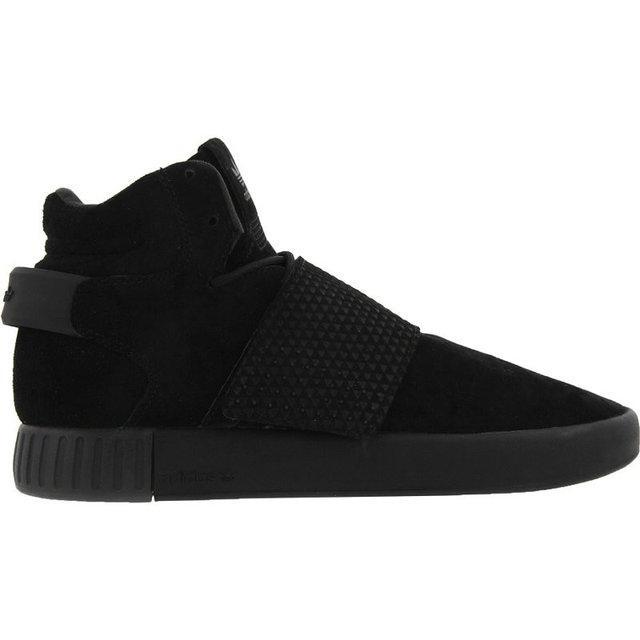 Мужские кроссовки Adidas Tubular Invader Strap All Black топ реплика