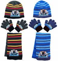 Шапки+шарф+перчатки для мальчиков оптом, Star Wars,арт.780-252