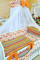 """Детский постельный комплект  Asik """"Водный мир""""  № 236, оранжевый, фото 1"""