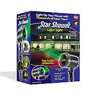 Лазерный светодиодный проектор для дома и двор Star Shower Laser Light
