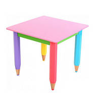Детский столик без пенала 60см на 60см Карандаши, фото 1