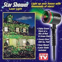 """Лазерный  светодиодный проектор для """"звездного"""" украшения дома  Star Shower Laser Light"""