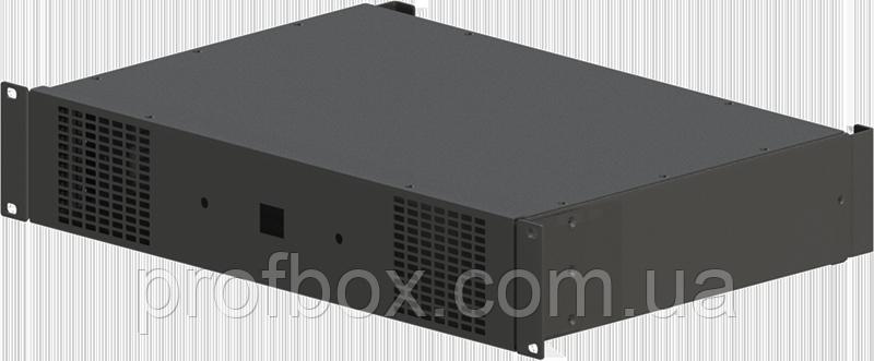 Корпус усилителя мощности звука (двухканальный + 2 вентилятора)