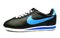 Черные кроссовки женские, подростковые Nike Cortez для спорта
