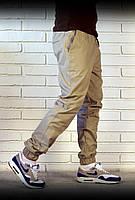 Мужские брюки джоггеры бежевого цвета