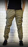 Мужские брюки джоггеры цвета хаки