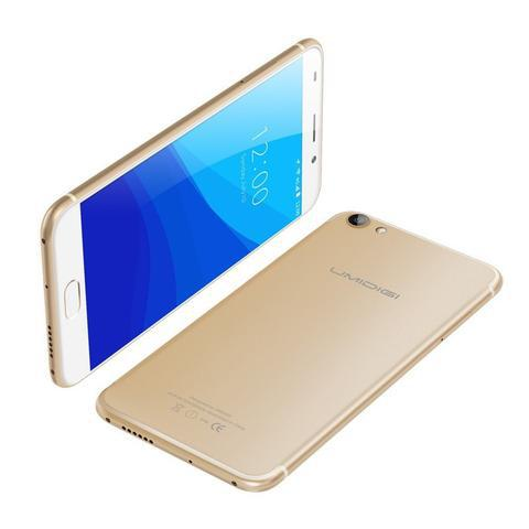 "Смартфон UMI Umidigi G gold, 2/16Gb, 8/2Мп, 4 ядра, 2sim, экран 5.5"" IPS, 2000mAh, GPS, 4G, Android 7.0"