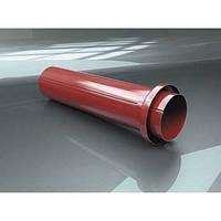 Труба с фланцем 0,4 м для металлического водостока RAIKO 125/90