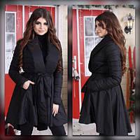 Черное женское пальто весна осень
