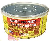 Тунец белый, бонито дель норте в маринаде-эскабече 1000 гр. Омега3