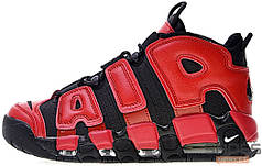 Женские кроссовки Nike Air More Uptempo Infrared Black Varsity Red