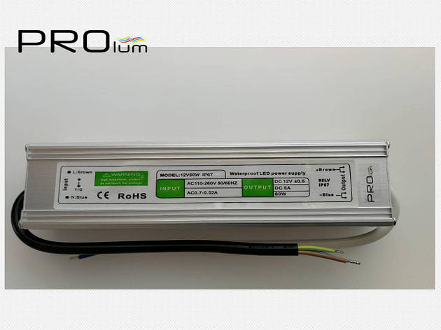 Блок питания герметичный 60W 5A Prolum, фото 2