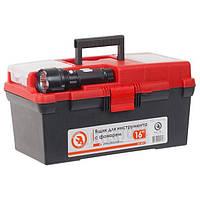 """Ящик для инструмента c фонарем 16"""" 395*220*200 мм INTERTOOL BX-0017"""