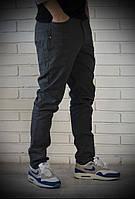 Стильные мужские джинсы с плотной ткани черные