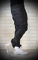 Стильные мужские джинсы с плотной ткани графитовые