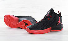 Мужские кроссовки Nike Air Jordan Super Fly Red/Black, фото 2
