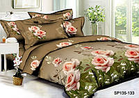 Полуторный комплект постельного белья 150х220 из полисатина Царица цветов